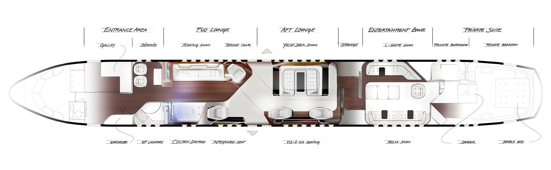 Mercedes Benz Style Vip Cabin Floorplan Revealed At Dubai Air Show Aviation Pros