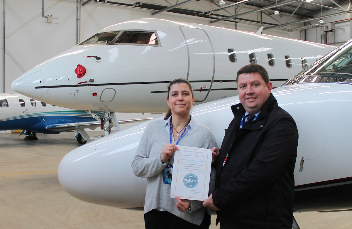 London Oxford Airport S Fbo Achieves Is Bah Stage Ii Safety Endorsement Aviation Pros